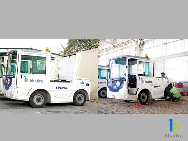 Bhadra International electrictowtracters underroutinemaintainance, Chennai Airport, India