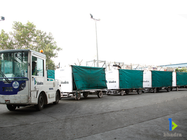 Airport Aviation-Bhadra International trollies forbaggage transfer