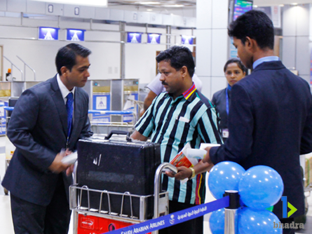 airport ground services-Helping Pessengers, Kozhikode Airport, India