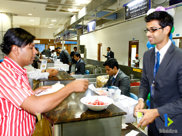 aviation management-Passenger Check-in Counter, Kozhikode Airport, India